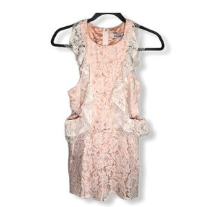 DO+BE Lace and Nude Cut Out Short Romper Size S